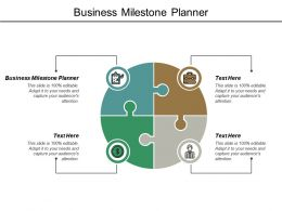 Business Milestone Planner Ppt Powerpoint Presentation Gallery Cpb
