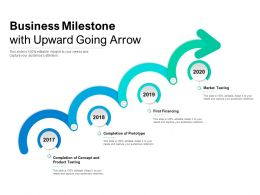 Business Milestone With Upward Going Arrow