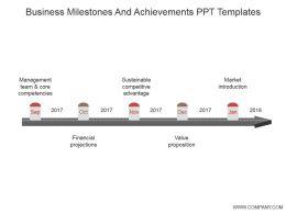 Business Milestones And Achievements Ppt Templates