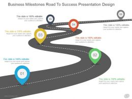 Business Milestones Road To Success Presentation Design
