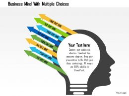 Business Mind With Multiple Choices Flat Powerpoint Design