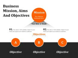 Business Mission Aims And Objectives Powerpoint Show