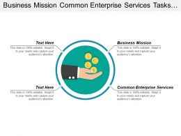 Business Mission Common Enterprise Services Tasks Strategic Management