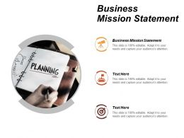 Business Mission Statement Ppt Powerpoint Presentation File Picture Cpb