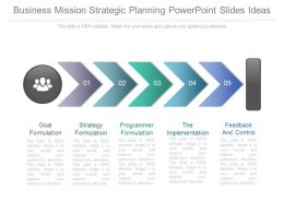 Business Mission Strategic Planning Powerpoint Slide Ideas