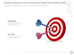 Business Mission Vision Goals And Target Presentation Slide