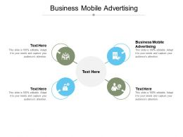 Business Mobile Advertising Ppt Powerpoint Presentation Pictures Design Inspiration Cpb