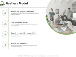 Business Model Acquire Customers Ppt Powerpoint Presentation Infographics