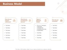 Business Model Acquire Customers Ppt Powerpoint Presentation Styles Templates