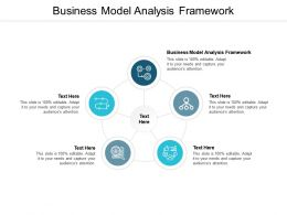 Business Model Analysis Framework Ppt Powerpoint Presentation Layouts Cpb