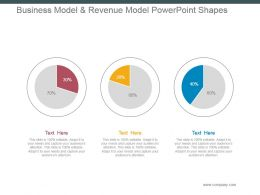 Business Model And Revenue Model Powerpoint Shapes