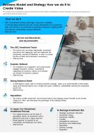 Business Model And Strategy How We Do It To Create Value Presentation Report Infographic PPT PDF Document