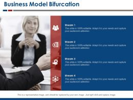 Business Model Bifurcation Powerpoint Slide Designs Download