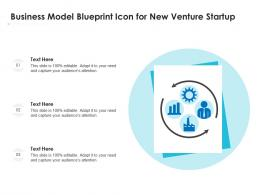 Business Model Blueprint Icon For New Venture Startup
