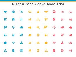 Business Model Canvas Icons Slides Growth Gear C383 Ppt Powerpoint Presentation Outline