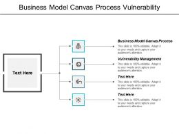Business Model Canvas Process Vulnerability Management Start Up Business Structure Cpb