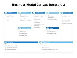 Business Model Canvas Propositions Ppt Powerpoint Presentation Model