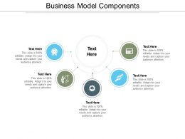 Business Model Components Ppt Powerpoint Presentation Ideas Example Cpb