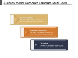 Business Model Corporate Structure Multi Level Marketing Business