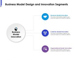 Business Model Design And Innovation Segments Ppt Powerpoint Presentation