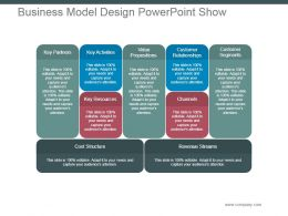 Business Model Design Powerpoint Show