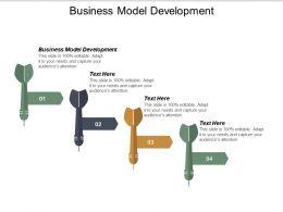 Business Model Development Ppt Powerpoint Presentation Icon Example Topics Cpb
