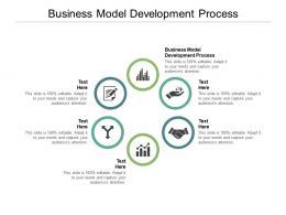 Business Model Development Process Ppt Powerpoint Presentation Portfolio Grid Cpb