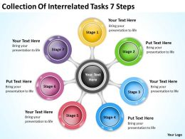 business_model_diagram_collection_of_interrelated_tasks_7_steps_powerpoint_templates_Slide01