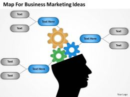 Business Model Diagram Map For Marketing Ideas Powerpoint Templates 0515