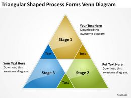 Business Model Diagram Triangular Shaped Process Forms Venn Powerpoint Templates