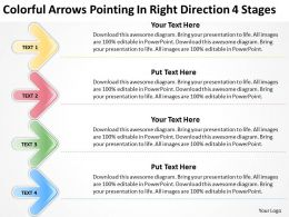 Business Model Diagrams Right Direction 4 Stages Powerpoint Templates PPT Backgrounds For Slides