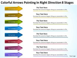 Business Model Diagrams Right Direction 8 Stages Powerpoint Templates PPT Backgrounds For Slides