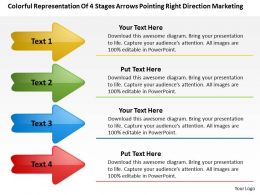 Business Model Diagrams Right Direction Marketing Powerpoint Templates PPT Backgrounds For Slides
