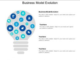Business Model Evolution Ppt Powerpoint Presentation Icon Gridlines Cpb