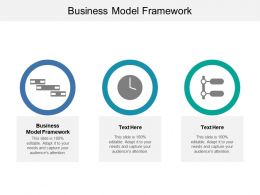 Business Model Framework Ppt Powerpoint Presentation File Visuals Cpb