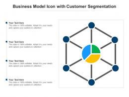 Business Model Icon With Customer Segmentation