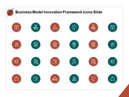 Business Model Innovation Framework Icons Slide Gears Powerpoint Slides