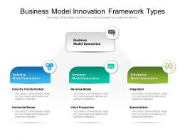 Business Model Innovation Framework Types