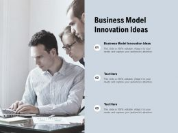 Business Model Innovation Ideas Ppt Powerpoint Presentation Infographics Icons Cpb