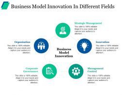 Business Model Innovation In Different Fields Ppt Sample