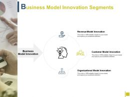 Business Model Innovation Segments Innovation Award Ppt Powerpoint Presentation File Layout