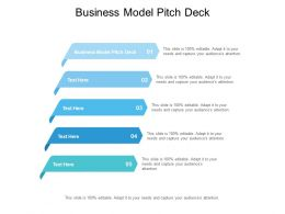Business Model Pitch Deck Ppt Powerpoint Presentation Summary Format Cpb