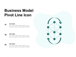 Business Model Pivot Line Icon