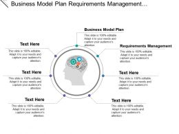 Business Model Plan Requirements Management User Experience Design