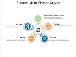 Business Model Platform Service Ppt Powerpoint Presentation Outline Topics Cpb