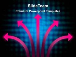 Business Model Presentation Powerpoint Templates Choices Arrow Ppt Slides