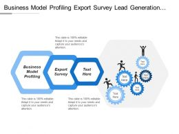 Business Model Profiling Export Survey Lead Generation Lead Follow Up