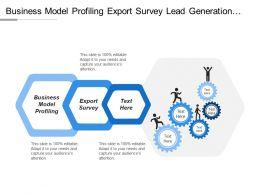 Business Model Profiling Export Survey Lead Generation Lead Follow Up