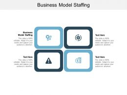 Business Model Staffing Ppt Powerpoint Presentation Infographics Microsoft Cpb