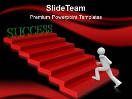Business Model Strategy Powerpoint Templates Running For Success Ppt Slides